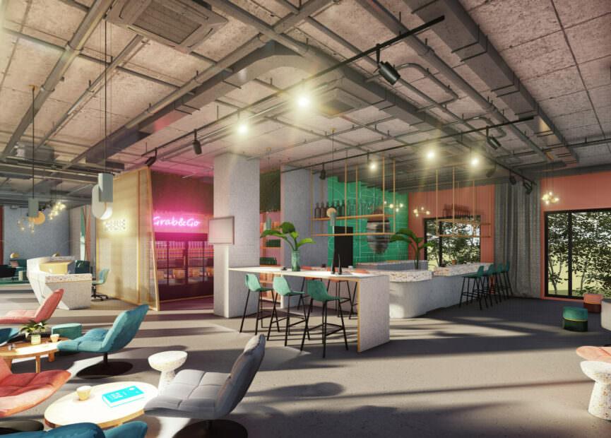 theBASE Bar Bereich mit Lounge